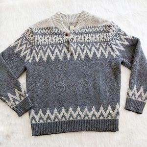 ll bean shawl collar chunky knit. Sz L